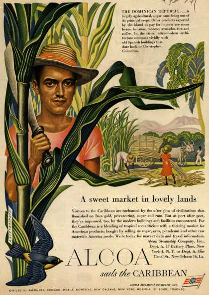 Alcoa Steamship Company's Caribbean – A sweet market in lovely lands (1949)