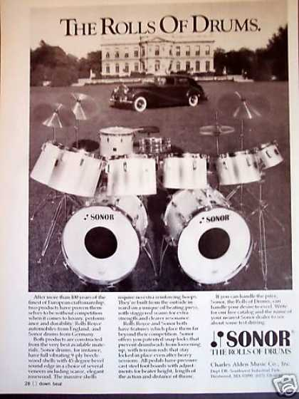 Sonor Rolls Royce of Drums Photo (1980)