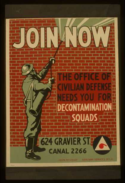 Join now &#8211; The office of civilian defense needs you for decontamination squads / John McCrady. (1941)