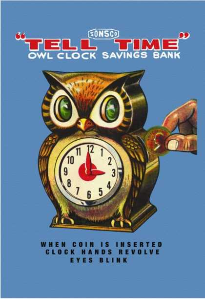 Tell Time Owl Clock