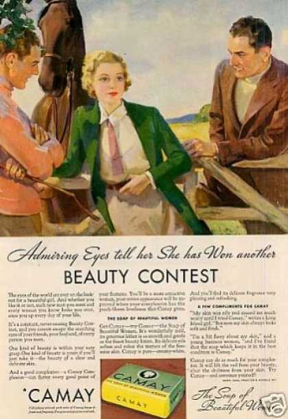 "Camay Soap Ad ""Admiring Eyes Tell... (1934)"