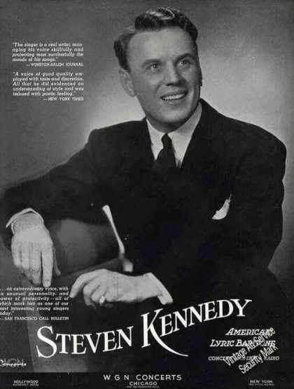Steven Kennedy Photo Baritone Trade (1941)
