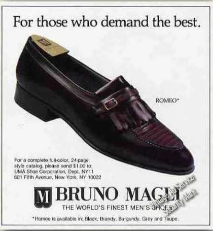 "Bruno Magli ""Romeo"" Men's Shoes Photo (1984)"