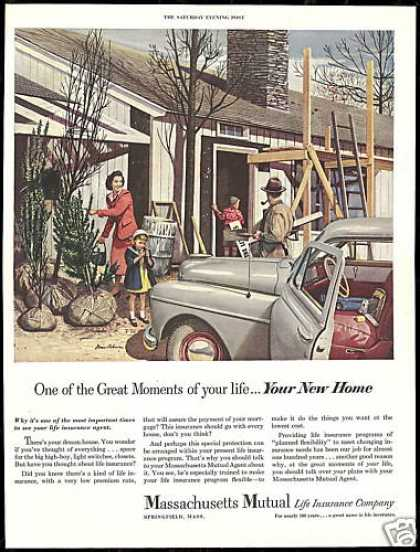 Massachusetts Mutual Insurance Home Dohanos Art (1950)