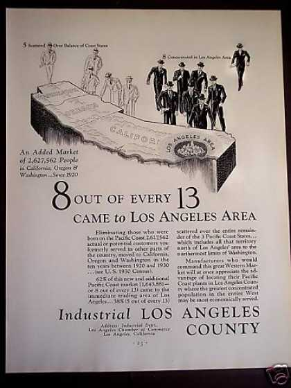 8 Out of 13 Come To Los Angeles (1931)