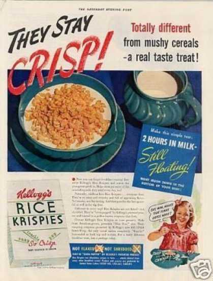 Kellogg's Rice Krispies Cereal (1939)
