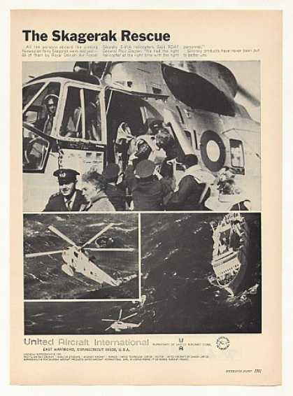 Sikorsky S-61A Helicopter Skagerak Rescue Photo (1967)
