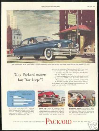 Big Packard 4 Dr Melbourne Brindle Art Car (1949)