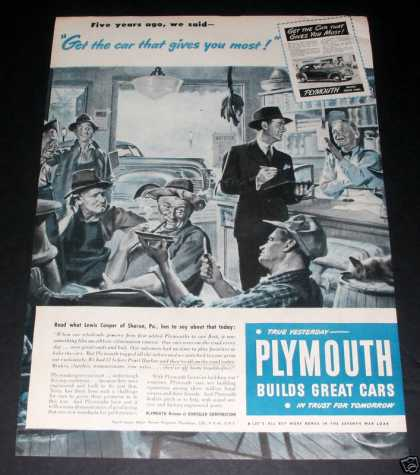 Plymouth, Builds Great Cars (1945)