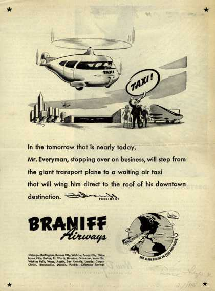 Braniff Airways – Taxi (1943)