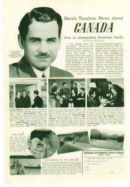 Canada – Travel – Vacation News with Lowell Thomas (1941)