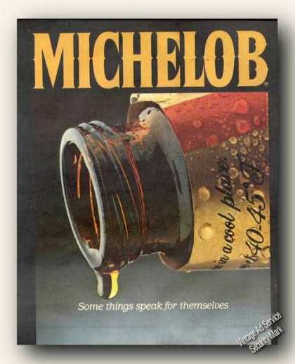 Michelob Beer Some Things Speak for Themselves (1982)