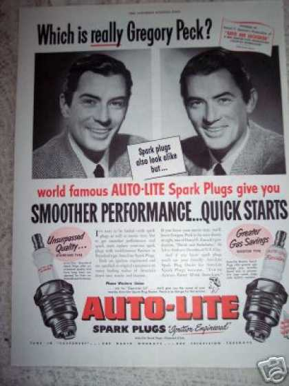 Auto Lite Gregory Peck & Twin (1951)