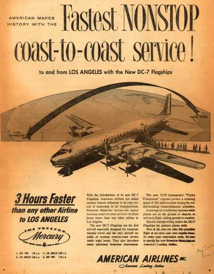 American Airlines – American Makes History With the Fastest Nonstop Coast-to-Coast Service (1953)