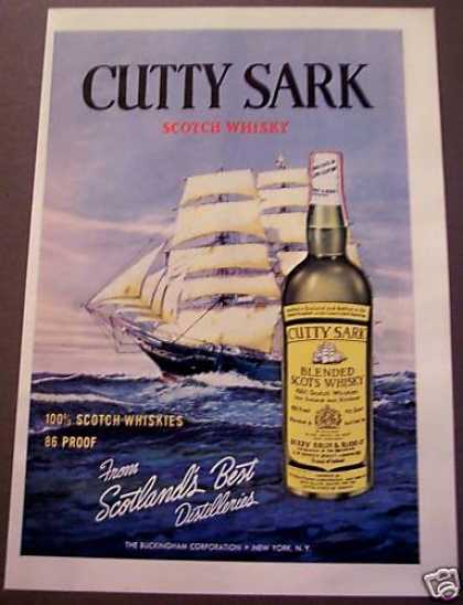 Cutty Sark Scotch Whisky Sailing (1962)