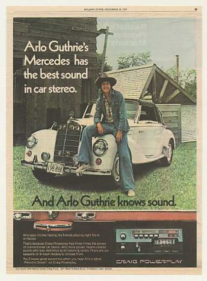 Arlo Guthrie Mercedes Craig Car Stereo Photo (1975)
