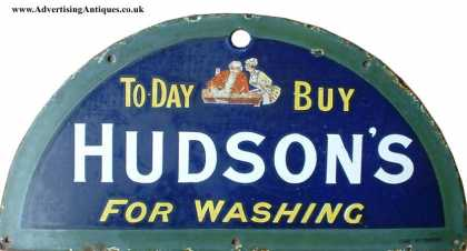 Hudson's Soap Buy Today Sign