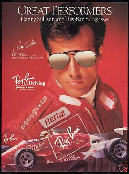 Ray Ban Sunglasses Danny Sullivan Indy 500 (1987)