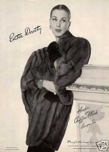 Esther Dorothy Amber Chiffon Mink Coat (1946)