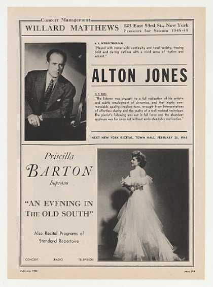 Alton Jones Priscilla Barton Photo Booking (1948)
