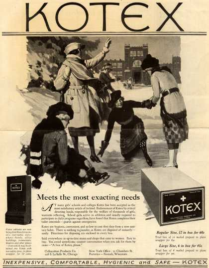 Cellucotton Products Company's Sanitary Napkins – Kotex: Meets the most exacting needs (1922)