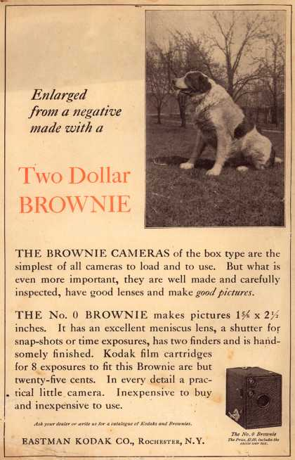 Kodak's Brownie cameras – Enlarged from a negative made with a Two Dollar BROWNIE (1921)