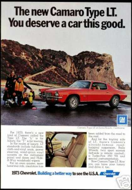 Chevrolet Red Camaro Type LT Scuba Diver Photo (1973)