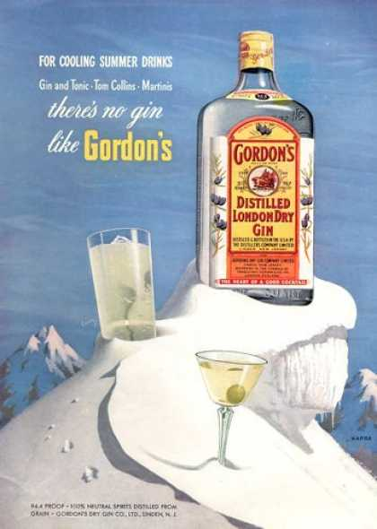 Gordon's Dry Gin Bottle (1953)