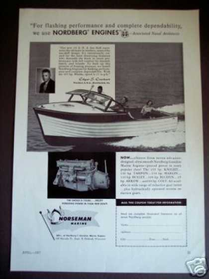 Norseman Marine Engines A. N. A. Boat Boating (1957)