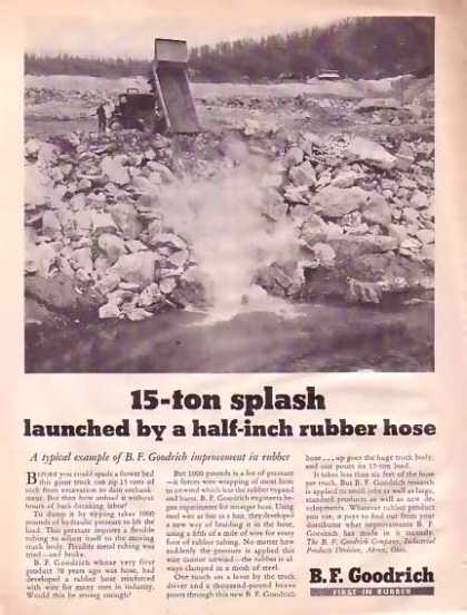 B.F. Goodrich – Rubber hose makes splash (1945)