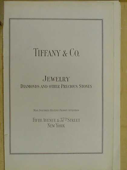 Tiffany and Co. Jewelry Diamonds and other precious stones (1926)