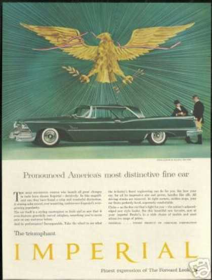 Green Chrysler Imperial 2Dr Vintage Photo (1958)