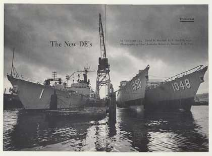 Navy DE's DEG-1 DE-1050 DE-1048 Ship 14P Pictorial (1966)