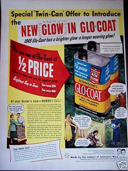 Johnson's Glo-coat Floor Wax Retro (1949)