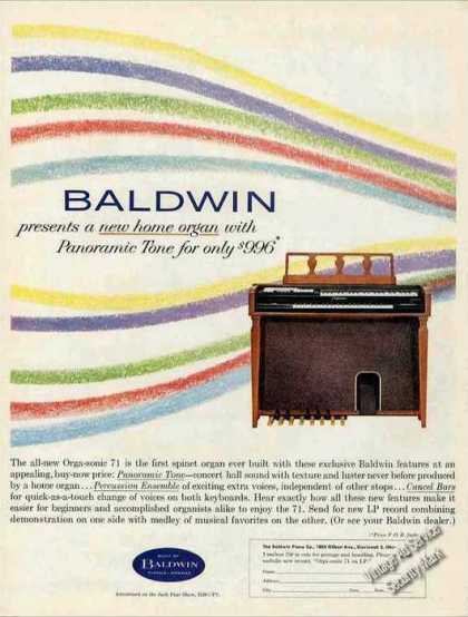 Baldwin Orga-sonic 71 Spinet Organ Collectible (1962)