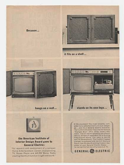 GE General Electric Custom Decorator TV Stereo (1963)