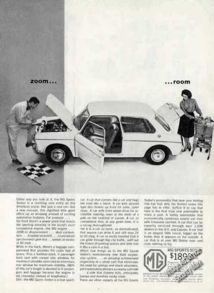 "Mg Sports Sedan ""Zoom... Room"" Car (1963)"