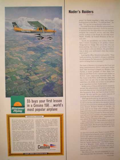 Cessna Plane Airplane $5 buys your first lesson 1/2 pg (1969)