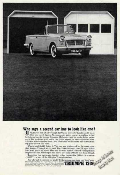 "Triumph 1200 ""Who Says a Second Car"" (1963)"