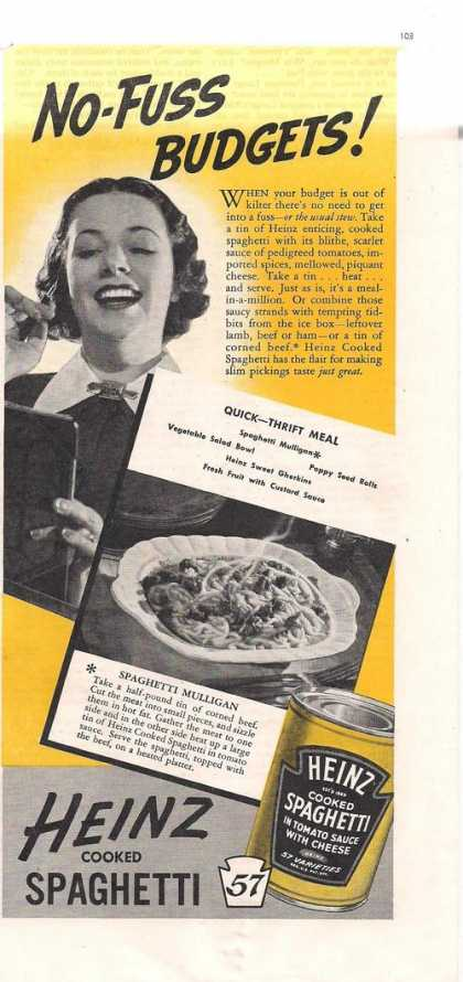 Heinz Cooked Spaghetti In a Can (1938)