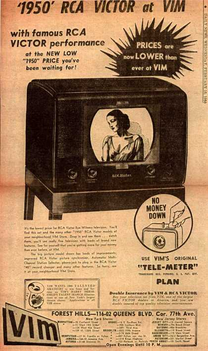 "Radio Corporation of America's RCA Victor Eye Witness Television – ""1950 RCA Victor at VIM"" (1950)"