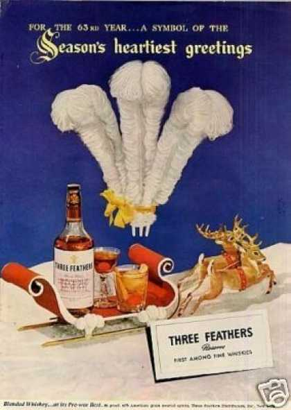 Three Feathers Whiskey (1945)