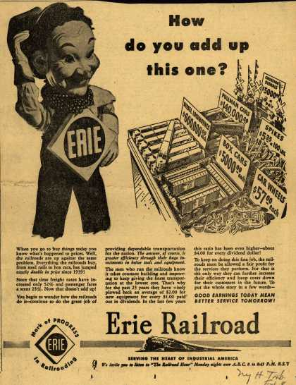 Erie Railroad – How do you add up this one? (1949)