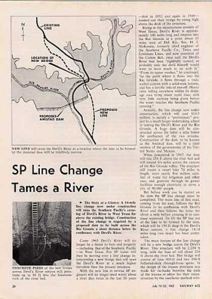 """Sp Line Change Tames a River"" Article (1962)"