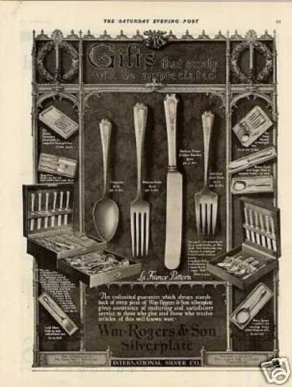 Wm. Rogers & Son Silverplate Ad La France (1922)