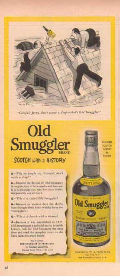Old Smuggler Scotch – Flooding, Careful Jerry! – Sold (1952)