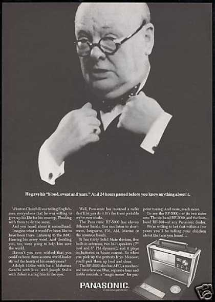 Winston Churchill Panasonic 11 Band Radio (1967)