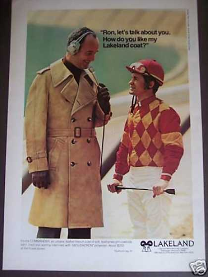 Jockey Ron Turcotte Lakeland Coat Fashion (1976)