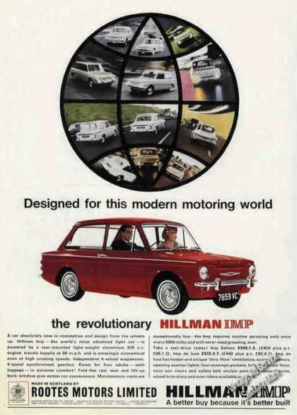 Hillman Imp Photo Rootes Motors Uk (1965)