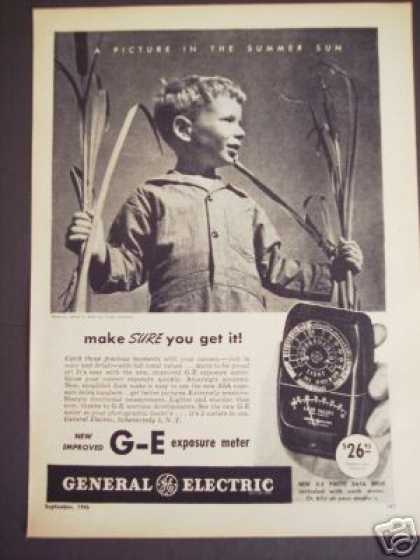Boy Photo Ge General Electric Exposure Meter (1946)